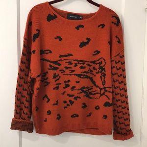 Urban Outfitters MINKPINK Cheetah Sweater medium